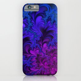 Midnight Insanity Fractal  iPhone Case