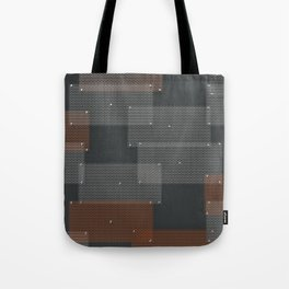 White and orange circular grates Tote Bag