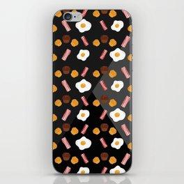 Bacon, Egg & Muffin!! -DARK- iPhone Skin