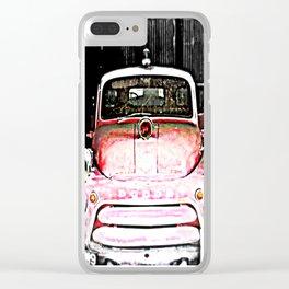Dodge fire Truck Clear iPhone Case