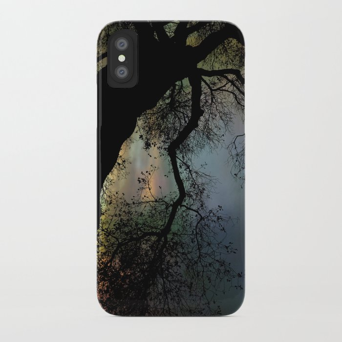 Night Fall by The Tree iPhone Case