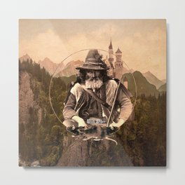The Pied Piper (Mountain Background) Metal Print