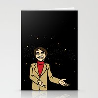 carl sagan Stationery Cards featuring Carl Sagan by Snarkasmic