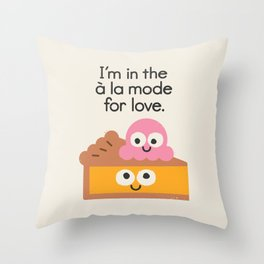 A Relationship Built On Crust Throw Pillow