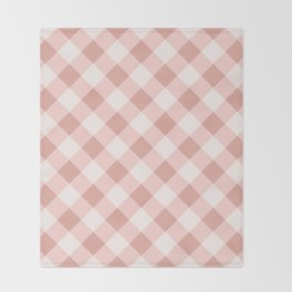 Diagonal buffalo check pale pink Throw Blanket