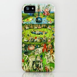The Garden of Earthly Delights Triptych by Hieronymus Bosch iPhone Case