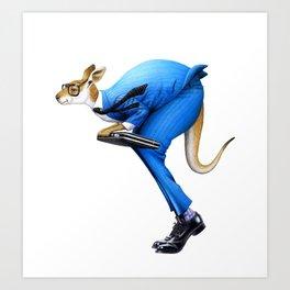 A kangaroo businessman Art Print