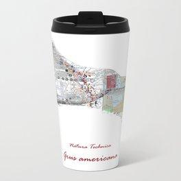 Natura Technica - Whooping Crane Metal Travel Mug