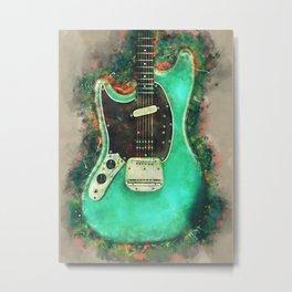 Kurt Cobain's electric guitar Metal Print