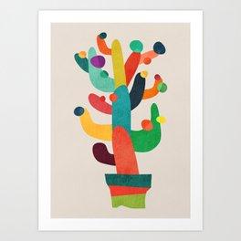 Whimsical Cactus Art Print