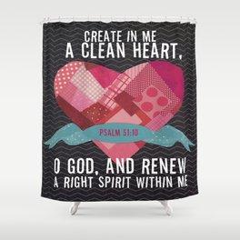 Psalm 51 Shower Curtain