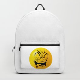 Crazy Furious Smiley Backpack