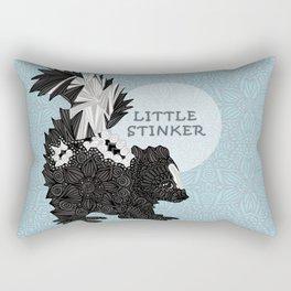 Little Stinker -blue- Rectangular Pillow