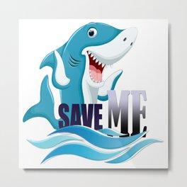 save our sharks Metal Print