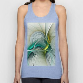 Fractal Evolution, Abstract Art Graphic Unisex Tank Top