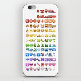Emoji icons by colors iPhone Skin