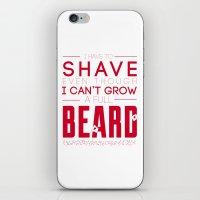beard iPhone & iPod Skins featuring Beard by PaulWorm