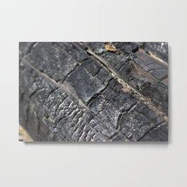Burnt Log Metal Print