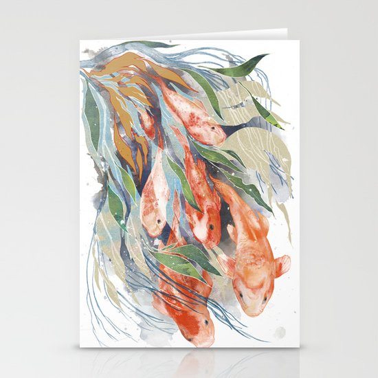 in the waterweeds Stationery Cards
