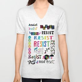 Resist them 3 Unisex V-Neck