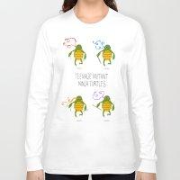 teenage mutant ninja turtles Long Sleeve T-shirts featuring teenage mutant ninja turtles by Lionel Hotz