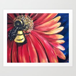 Bee Ready Art Print