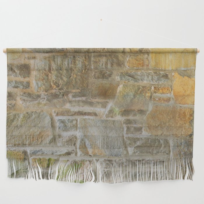 Avondale Brown Stone Wall and Mortar Texture Photography Wall Hanging