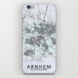 Arnhem, Netherlands, White, City, Map iPhone Skin