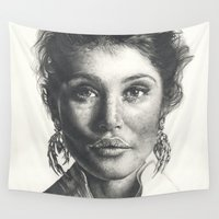gemma Wall Tapestries featuring Gemma  by Lucy Schmidt Art