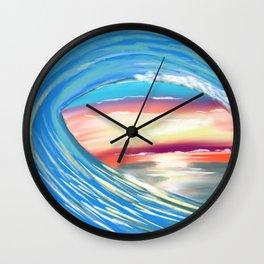 Ocean swirl Wall Clock