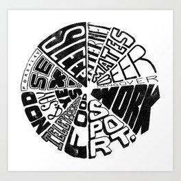 Bloke Clock Art Print