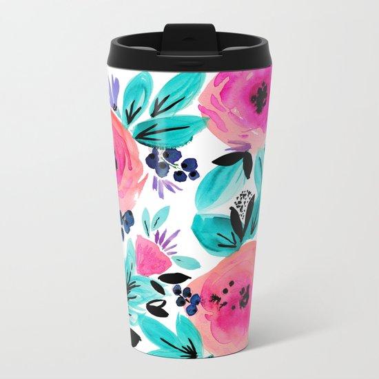 Savannah Flower Metal Travel Mug