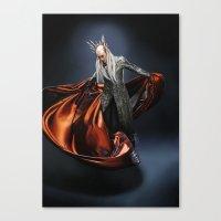 thranduil Canvas Prints featuring Thranduil by Dami's art