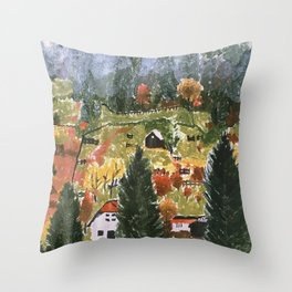 Please Bury Me- Forest Painting Throw Pillow