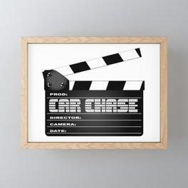 Car Chase Clapperboard Framed Mini Art Print