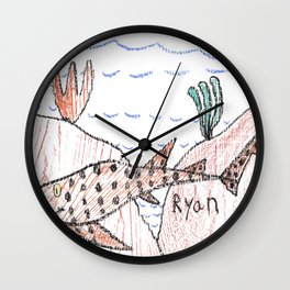 Epaulette Shark Wall Clock