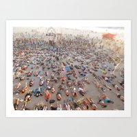 yoga Art Prints featuring Yoga by Emma Lin