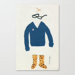 Outfit for Staying at Home Canvas Print