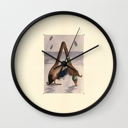 Animal's Alphabet - A for 'Anatra' Wall Clock