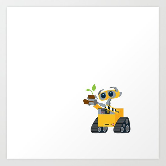walle with plant Art Print
