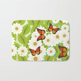 Daisies and butterflies Bath Mat