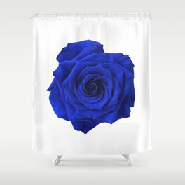 blue rose Shower Curtain