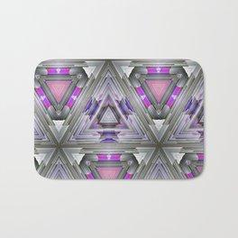 ultra violet triangles vb Bath Mat