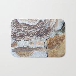 Vintage Shabby Pale Blue Wood Design Bath Mat