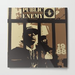 Public Enemy: 1988 Metal Print