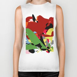 Forest of Colors, Abstract Art Biker Tank