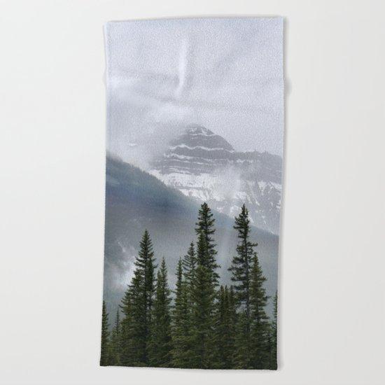Misty Mountain Top Beach Towel