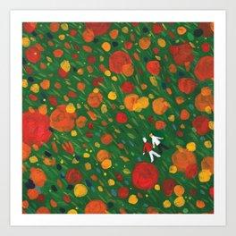 Flower Floor 002  Art Print