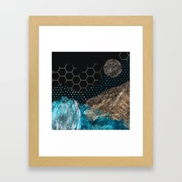 Midnight Mountain Framed Art Print
