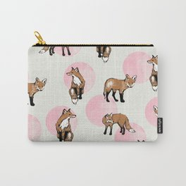 fox dots Carry-All Pouch